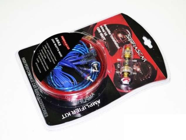 Набор кабелей для сабвуфера/ усилителя Super Iascar 1200W AMK8 8 AWG