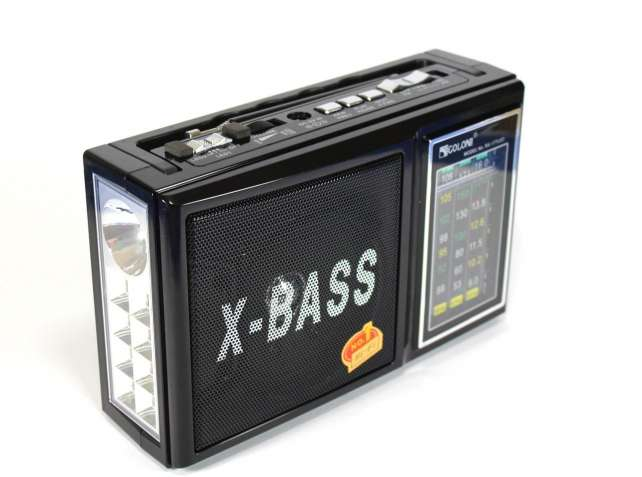Радиоприемник GOLON RX-177LED с фонариком FM AM SW Mp3 USB SD