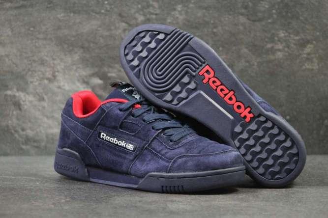 Кроссовки мужские темно синие с красным Reebok 5964