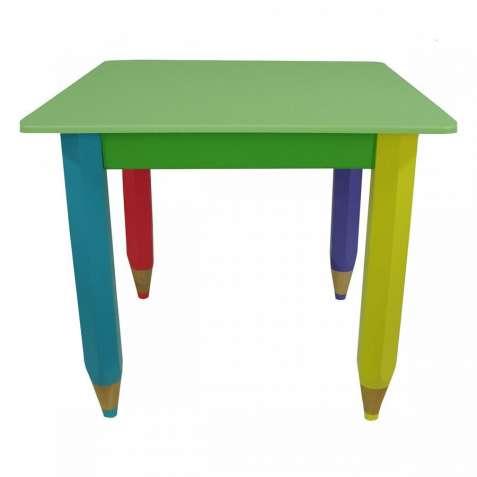 Детский Столик Карандашики 60*60 см цвет столешницы-салатовый