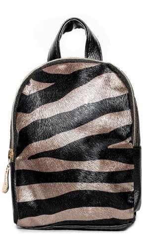 Рюкзак Cappuccino Toys Mini-Zebra для девочек черный