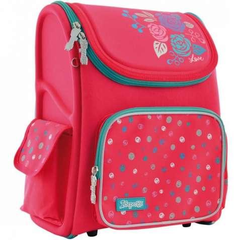 Рюкзак-ранец 1 Вересня Lovely roses H-17 школьный розовый