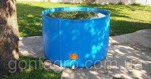Резиновая бочка для дачи, садовая емкость 1000 л.