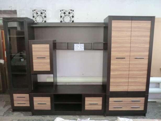 Гостиная стенка Каспий (Зебрано). Мебель со склада по оптовым ценам