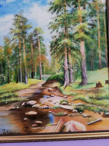 """Картина """"Сосни в лісі"""""""