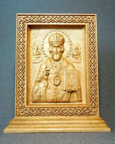 Икона Николай Чудотворец на постаменте (под заказ)