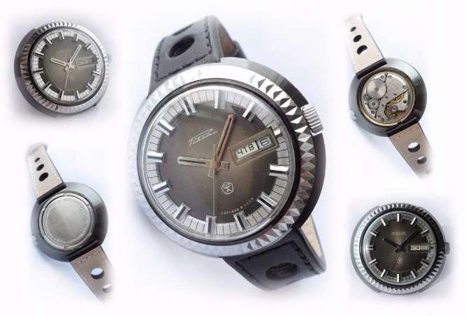 РАКЕТА_ШАЙБА, сделано в СССР 70-х. БОЛЬШИЕ мужские часы, механические.