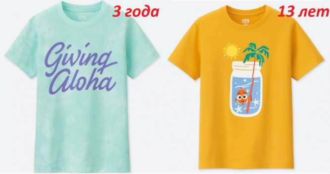Детские футболки Uniqlo