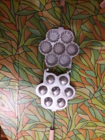 Форма для выпечки корзинок на газовой плите