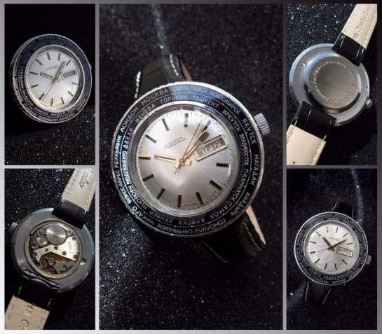 РАКЕТА_ПОЯСНОЕ ВРЕМЯ, сделано СССР 70-х. БОЛЬШИЕ МУЖСКИЕ часы механиче