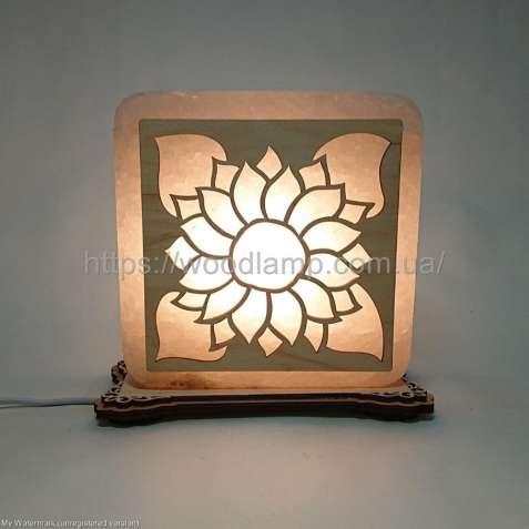 Соляной светильник квадратный Подсолнух,лампа,ночник