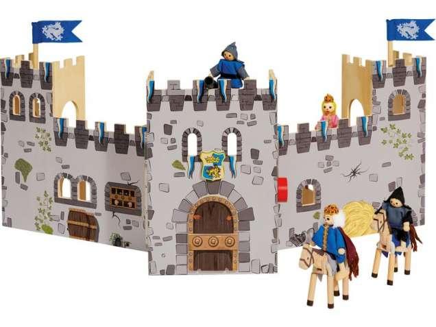 Раскладной деревянный рыцарский замок Playtive Германия с мебелью