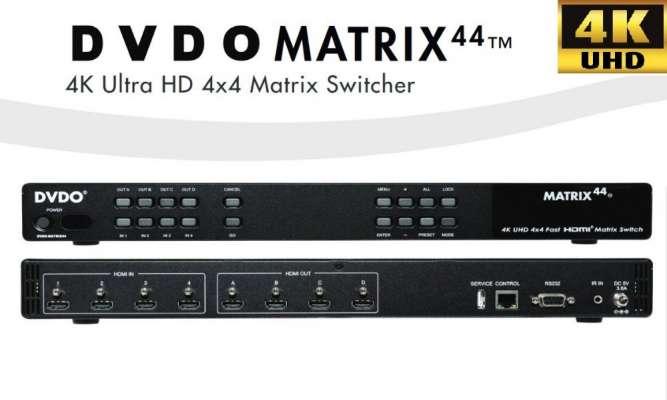 Лучший 4K UHD 4x4 HDMI Матричный коммутатор (RS232/IR/IP) от DVDO