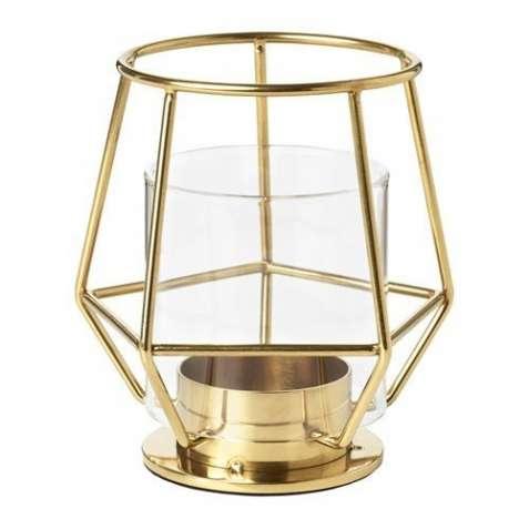 Золотой подсвечник для греющей свечи IKEA