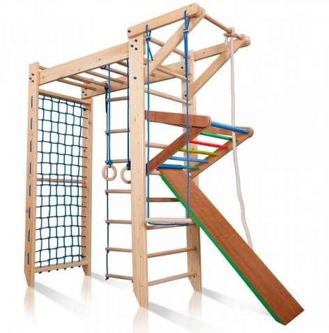 Детский спортивный деревянный комплекс
