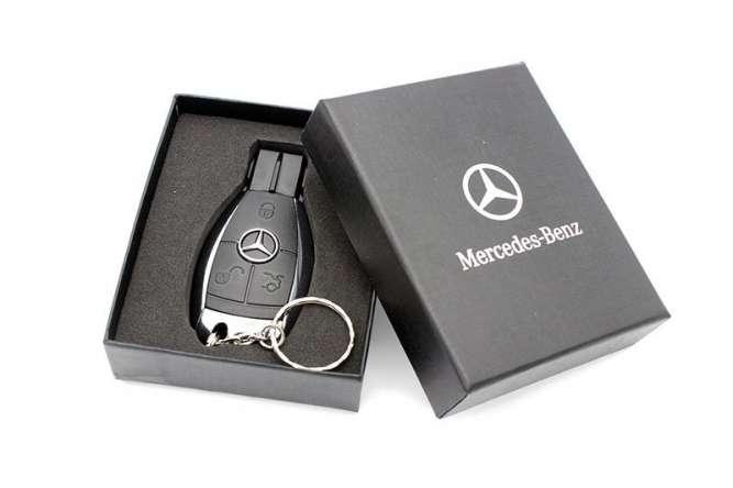 USB флешка - в виде ключа Mercedes Мерседес 32GB + Подарочная Коробочк