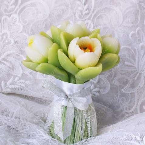 """Свадебная свеча """"Букет тюльпанов"""""""
