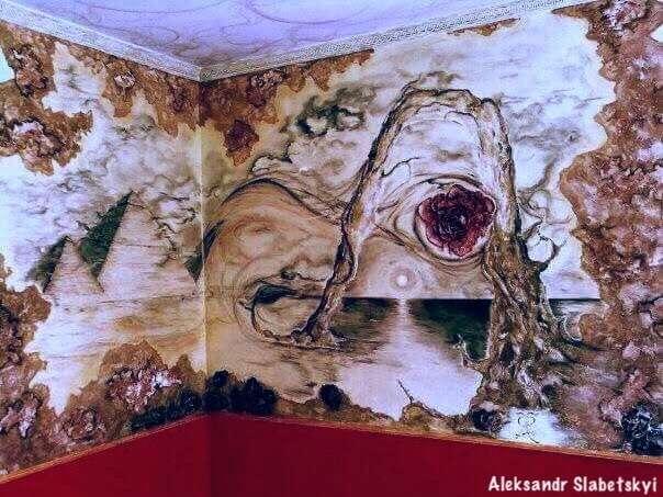 Скулптурнвний інтер'єний живопис з декоратих веніцівських шткатрок.