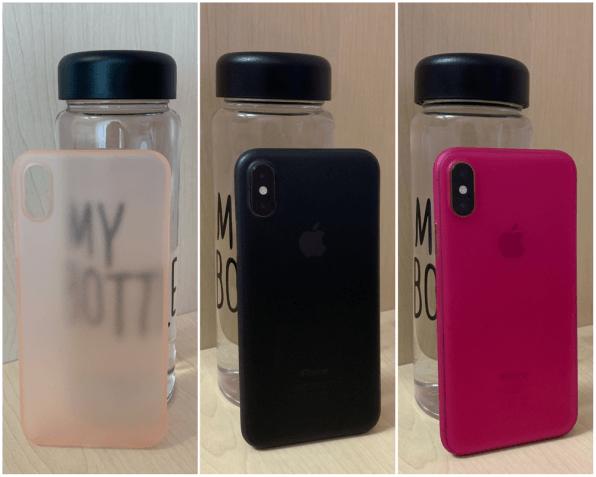 Полупрозрачный ультратонкий чехол 0.3 мм на Iphone X и Xs (др. цвета)
