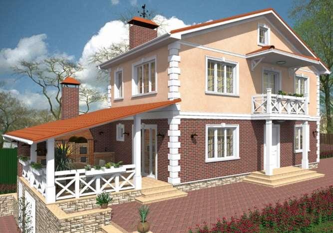 Дизайн фасада (экстерьера) с визуализацией и чертежами.
