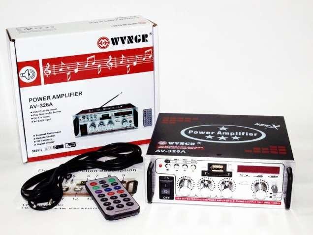 Усилитель AV-326A - USB,SD,FM,MP3! 200W+200W 2х канальный