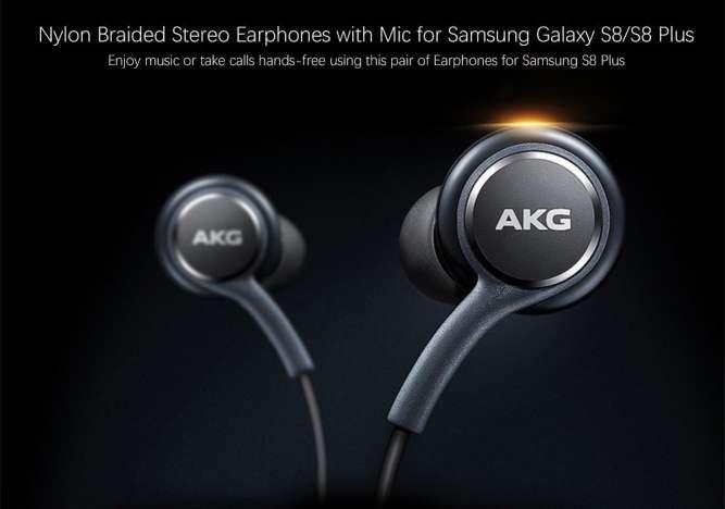 Наушники-гарнитура с микрофоном 3,5 мм AKG для Samsung S8