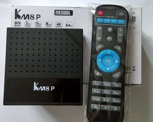 Tv Box Mecool KM8 P (S912, 2/16 GB, Android 7)
