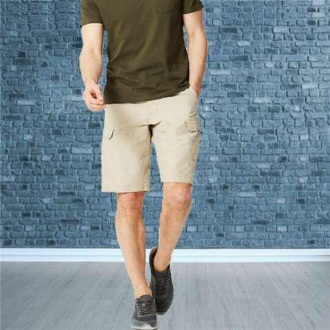 Фирменные мужские шорты  карго бежевые Marks&Spencer