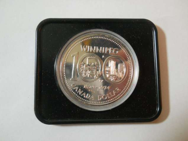 Канада-1 доллар (1974) '100 лет городу Виннипег' СЕРЕБРО