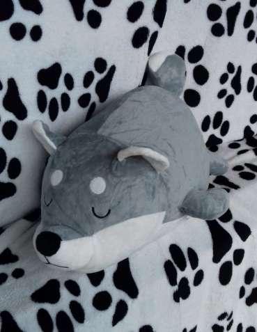 Плед+ Подушка= Игрушка собачка Акита