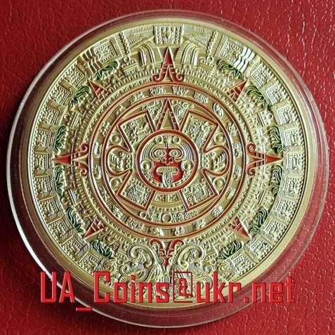 "Монета ""Календарь Майя. Камень Солнца. Монета Ацтеков"""