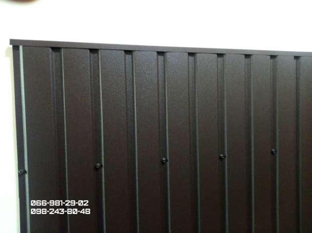 Профнастил коричневого цвета матовый РАЛ 8017, Металлопрофиль матовый.