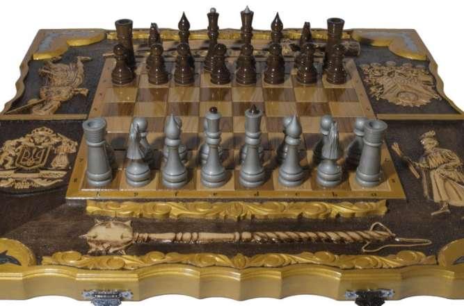 "Шахматный набор ""Казачьи клейноды"" 3 в 1 (шахматы, нарды, шашки)"