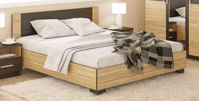 Двуспальная кровать Вероника (Зебрано). Мебель со склада недорого