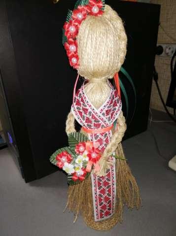Кукла-мотанка `Берегиня` (льняная нить) Оберег в дом