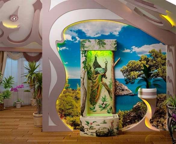 Водоспад по склу в інтер'єрі від дизайн студії Романа Москаленка - изображение 3