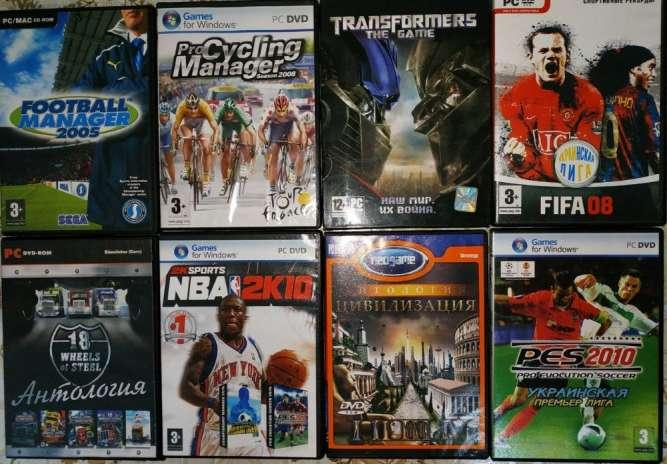 Продам игры для компьютера, 57 дисков (в подарок 19 дисков с фильмами)