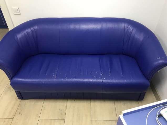 Продам диван б /у из кожзаменителя  Длина 165, высота 85, ширина 60 .