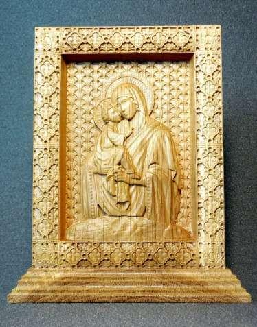Икона Богоматерь Почаевская на постаменте