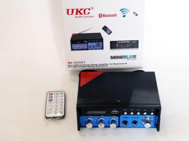 Усилитель UKC SN-666BT - USB,SD,FM,MP3! 300W+300W Bluetooth Karaoke