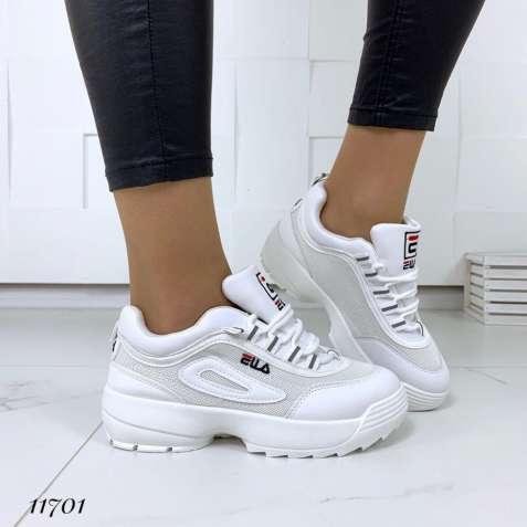 Белые женские кроссовки в стиле FILA, кроссовки Фила сеточка 37,38,40р