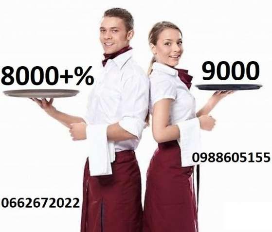 Робота барменом - касиром, барменом - баристою, офіціантом 8000-12000