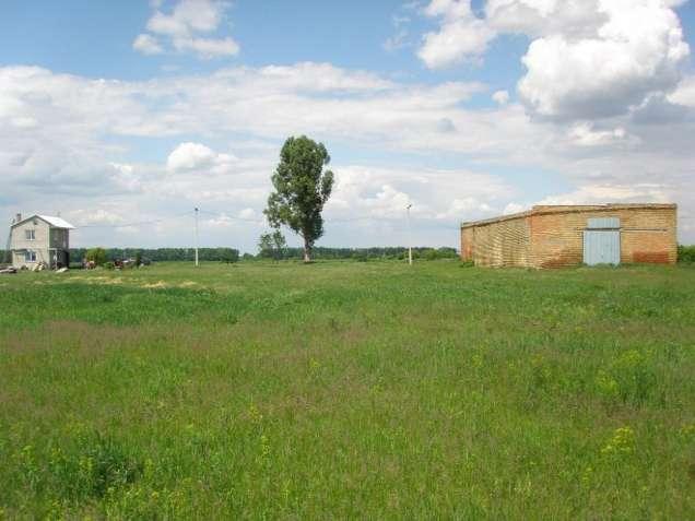 Ставы. Промышленный  участок с ангаром между селами.