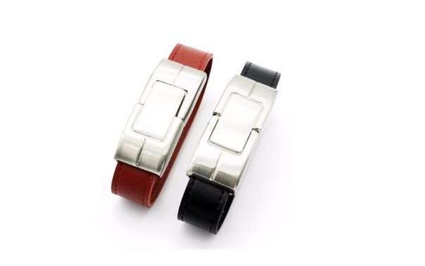 Флешка - стильный кожаный браслет 32GB