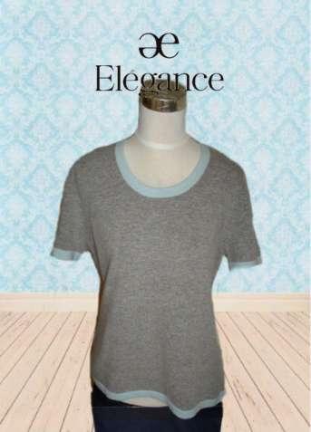 Elegance Collection шерсть ангора Теплый женский свитер короткий рукав