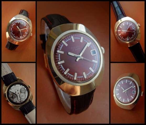 … дизайн ЗОЛОТОГО ПОЛЁТА 70_х., мужские, ЗОЛОЧЕННЫЕ часы, механические