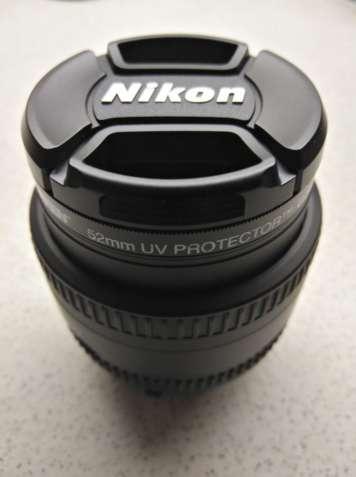 Объектив Nikon AF Nikkor 50mm f/1:1.8D и светофильтр TIFFEN 52mm UV