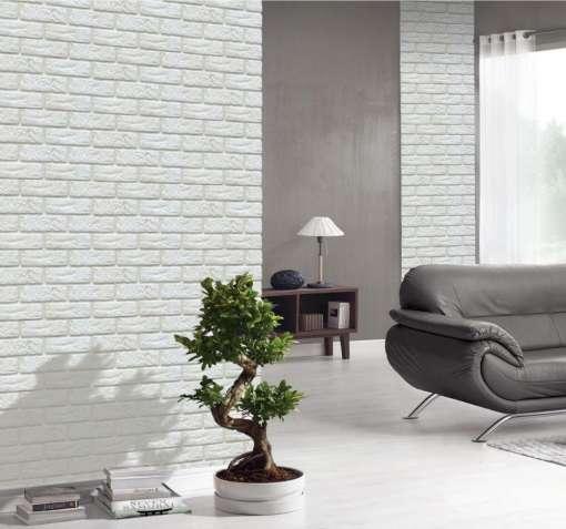 Декоративная плитка для фасадов и интерьера -Decor Brick Off-White