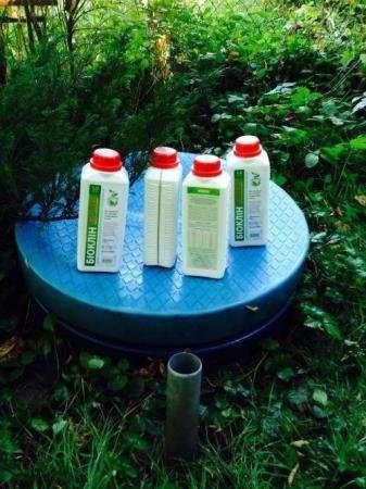 Биопрепарат Биоклин для выгребных ям, септиков и дренажных систем.