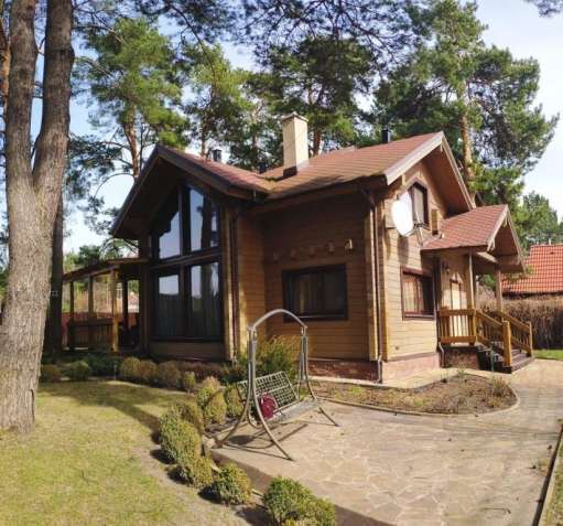 Дом 200 м2 из бруса, лес, озера, Бобрица